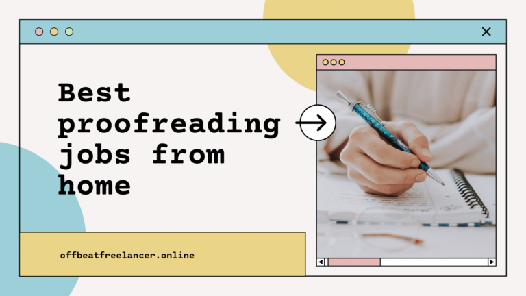 proofreading jobs from home no experience
